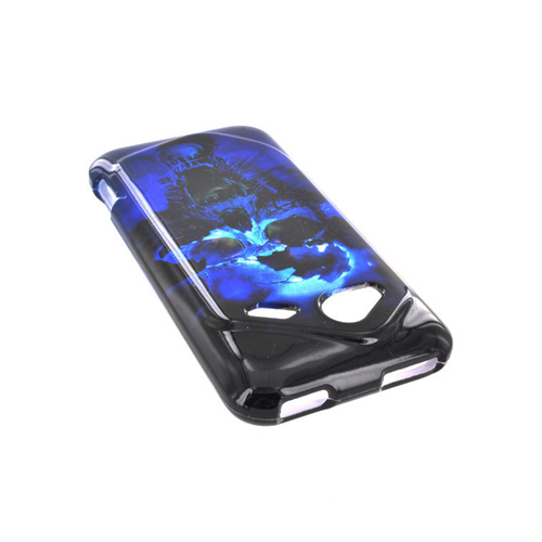 HTC Droid Incredible 4G LTE Hard Case - Blue Skull