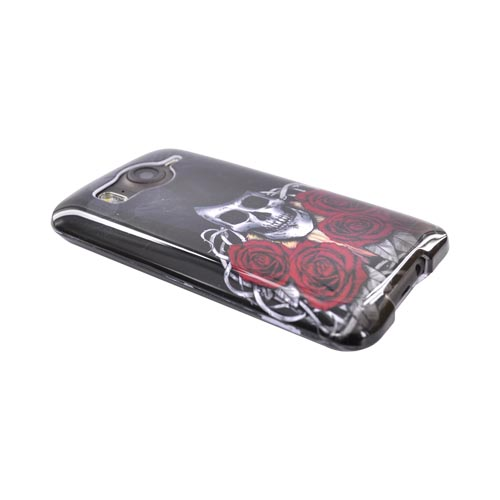 HTC Inspire 4G Hard Case - Skull Magician on Black