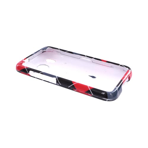 HTC Inpsire 4G Hard Case - Red, Gray, Black, White Argyle