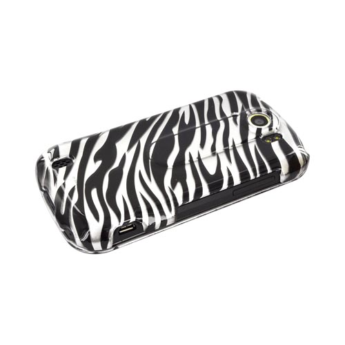 HTC Mytouch 4G Slide Hard Case - Silver/ Black Zebra