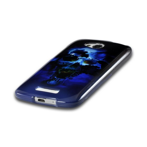 Blue Skull Hard Case for HTC One VX