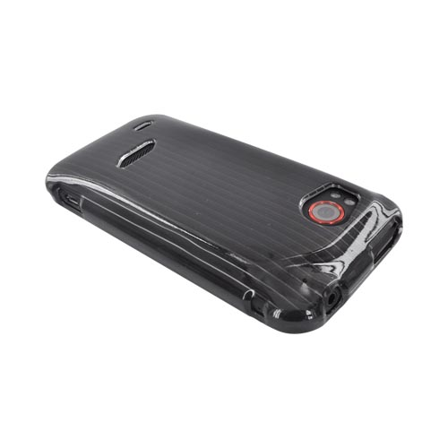 HTC Rezound Hard Case - Silver Lines on Black