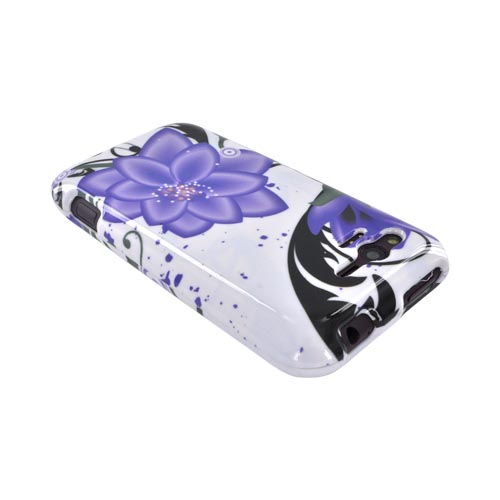 HTC Rhyme Hard Case - Purple Lily on White