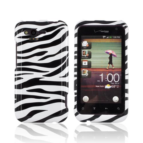 HTC Rhyme Hard Case - Black/ White Zebra