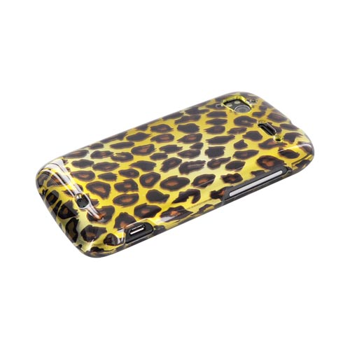 HTC Sensation 4G Hard Case - Brown/ Black Leopard on Gold