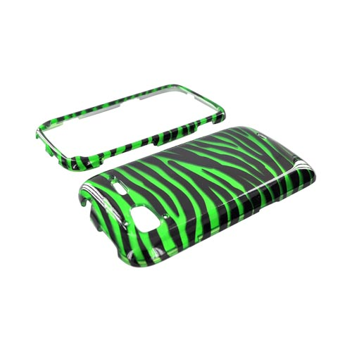 HTC Sensation 4G Hard Case - Green/ Black Zebra