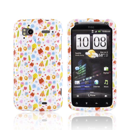 HTC Sensation 4G Hard Case - Colorful Ice Cream Desserts on White