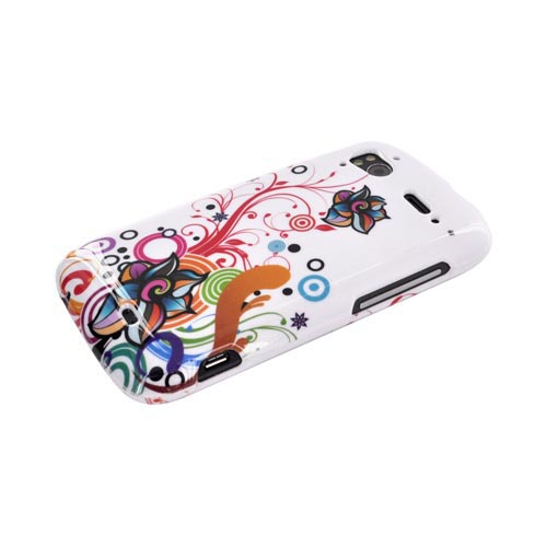 HTC Sensation 4G Hard Case - Rainbow Autumn Floral Design on White