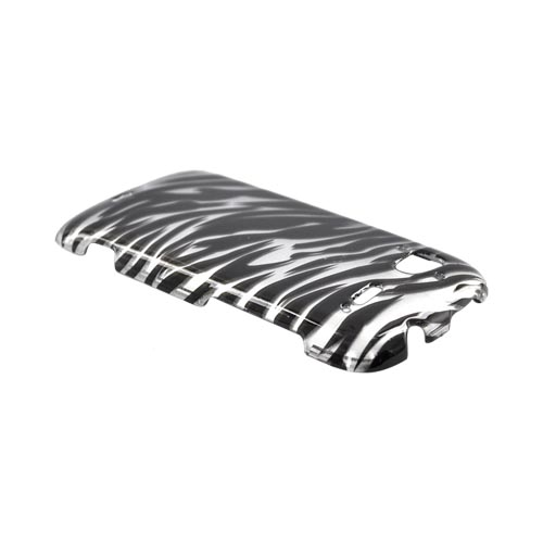 HTC Sensation 4G Hard Case - Silver/Black Zebra