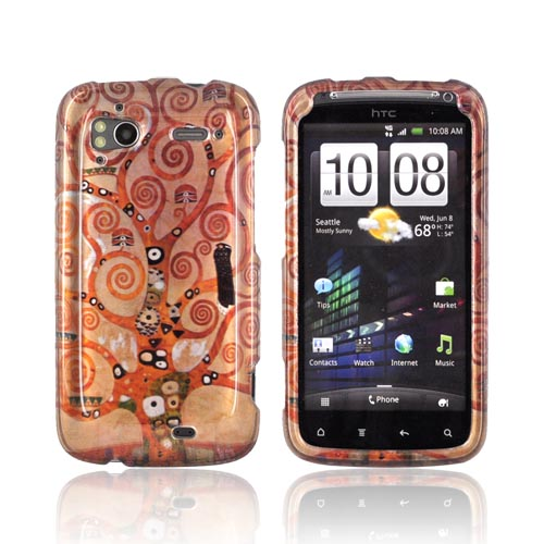 HTC Sensation 4G Hard Case - Tree of Life on Brown