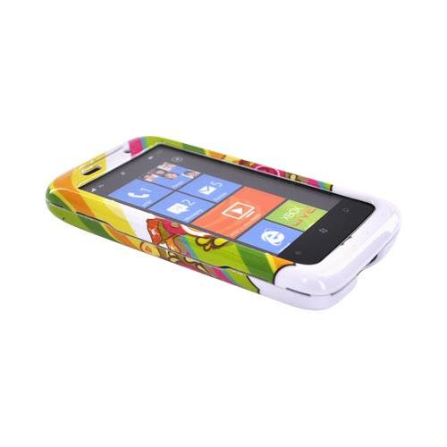 HTC Surround T8788 Hard Case - Colorful Pirate Bay on White