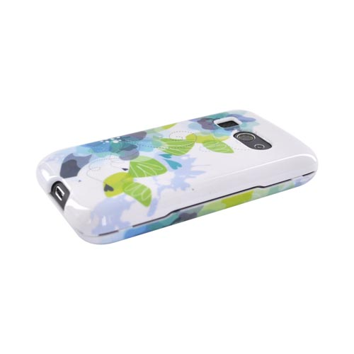HTC Surround T8788 Hard Case - Blue/Green Water Lilies on White