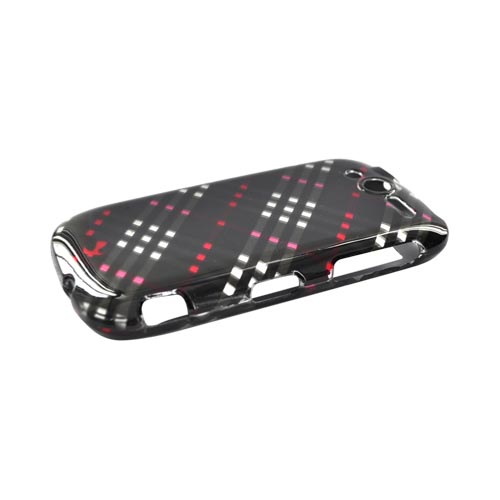 Luxmo T-Mobile MyTouch 4G Hard Case - Checkered Pattern of Black, Red, Silver