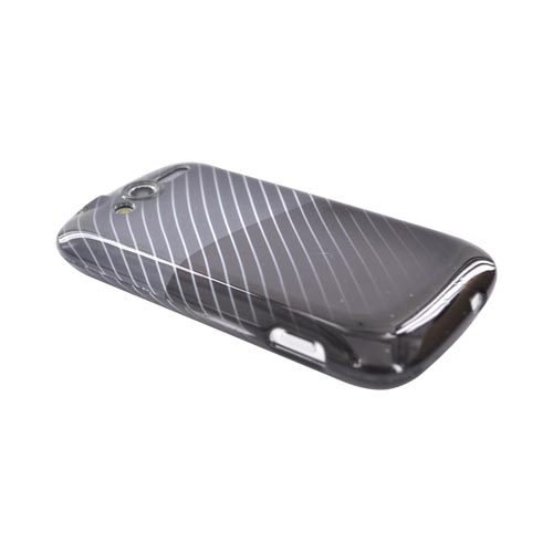 T-Mobile MyTouch 4G Hard Case - Lines on Black/Gray