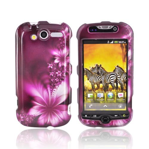 T-Mobile MyTouch 4G Hard Case - Flowers on Purple
