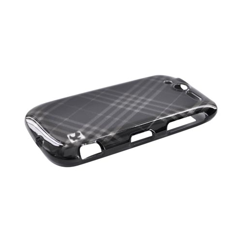 Luxmo T-Mobile MyTouch 4G Hard Case - Gray Diamonds on Black