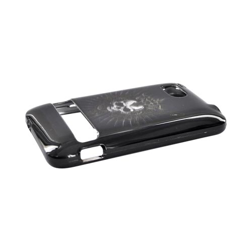 HTC Thunderbolt Hard Case - Cross Skull on Black