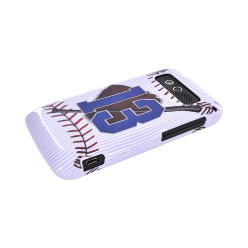 HTC Trophy Hard Case - Baseball/ Glove/ Bat/ #13 on White
