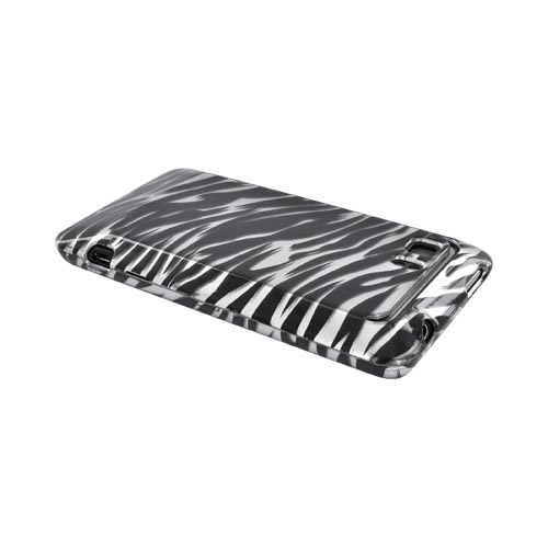 HTC Vivid Hard Case - Silver/ Black Zebra