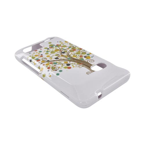 HTC Vivid Hard Case - Tree Design on White