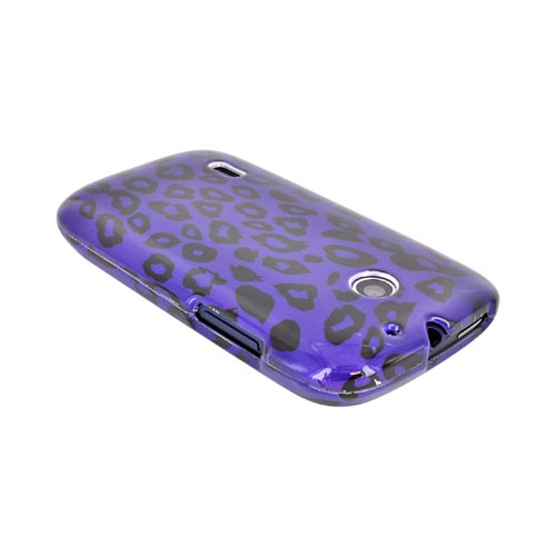 AT&T Fusion U8652 Hard Case - Purple/ Black Leopard