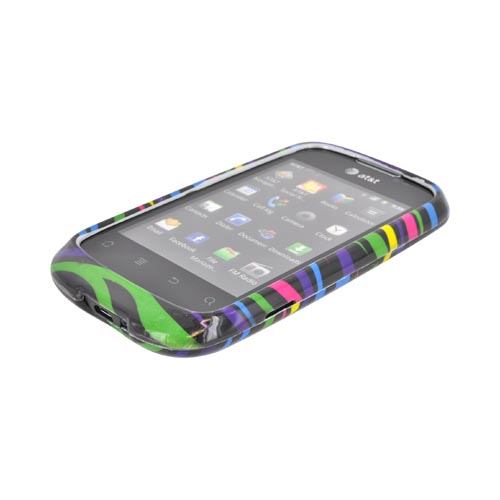 AT&T Fusion U8652 Hard Case - Rainbow Zebra on Black
