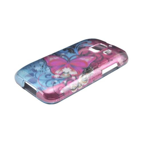 AT&T Fusion 2 U8665 Hard Case - Hot Pink Butterfly Bliss