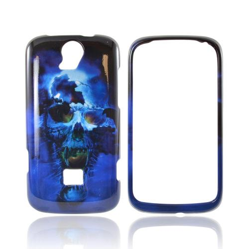 T-Mobile Huawei myTouch Q 2 Hard Case - Blue Skull