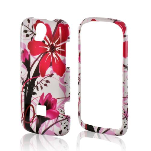Pink Flower Splash on White Hard Case for T-Mobile Huawei myTouch Q 2