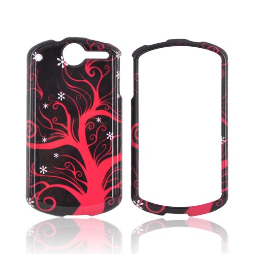 AT&T Impulse 4G Hard Case - Hot Pink Tree on Black