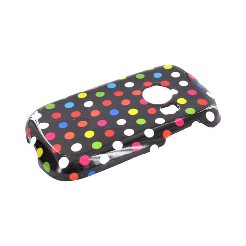 Huawei M835 Hard Case - Rainbow Polka Dots on Black