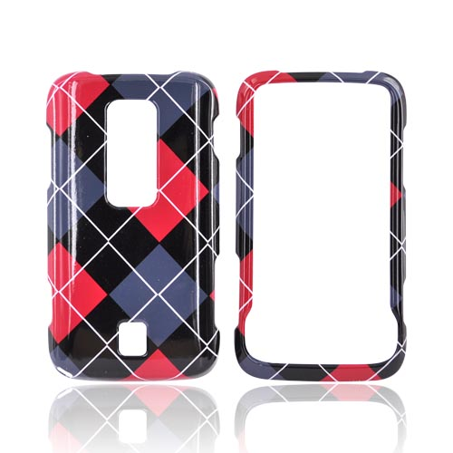 Huawei Ascend M860 Hard Case - Red, Gray, Black, White Argyle