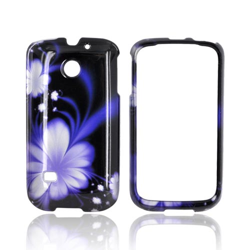 Huawei Ascend 2 M865 Hard Case - Purple Flower on Black