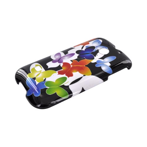 Huawei Ascend 2 M865 Hard Case - Rainbow Butterflies on Black