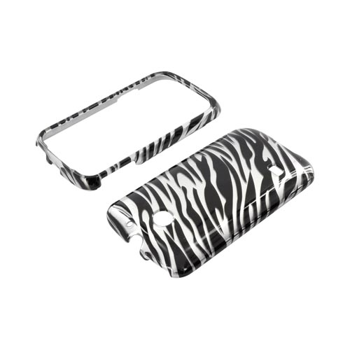 Huawei Ascend 2 M865 Hard Case - Silver/ Black Zebra