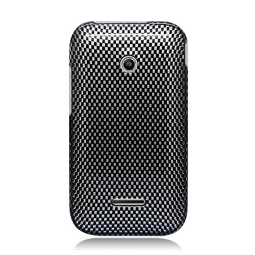 Gray/ Black Carbon Fiber Design Hard Case for T-Mobile Prism 2