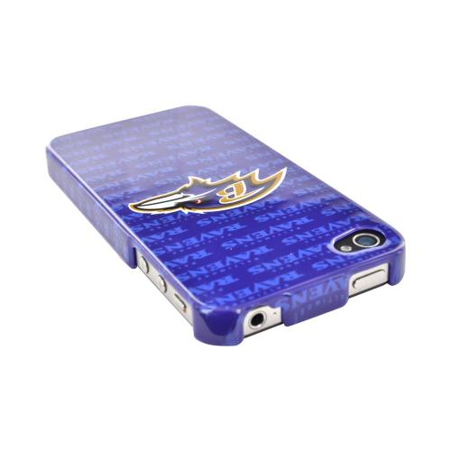 NFL Licensed Apple iPhone 4/4S Hard Case - Baltimore Ravens