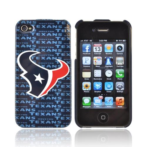 NFL Licensed Apple iPhone 4/4S Hard Case - Houston Texans