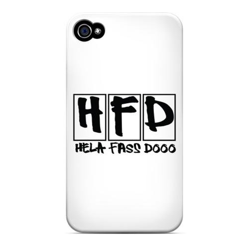 HFD Logo Hard Plastic Case for Apple iPhone 4/4S
