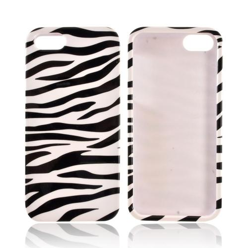 Apple iPhone 5/5S Hard Case - Black/ White Zebra