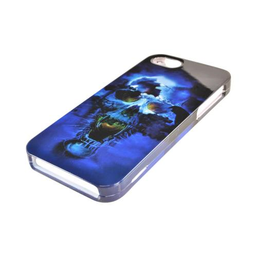 Apple iPhone 5/5S Hard Case - Blue Skull