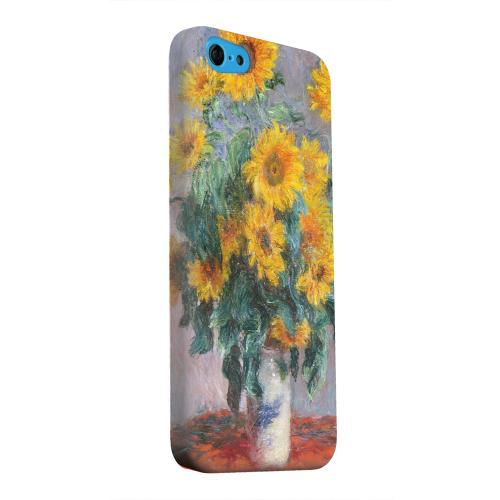 Geeks Designer Line (GDL) Apple iPhone 5C Matte Hard Back Cover - Claude Monet Bouquet of Sunflowers