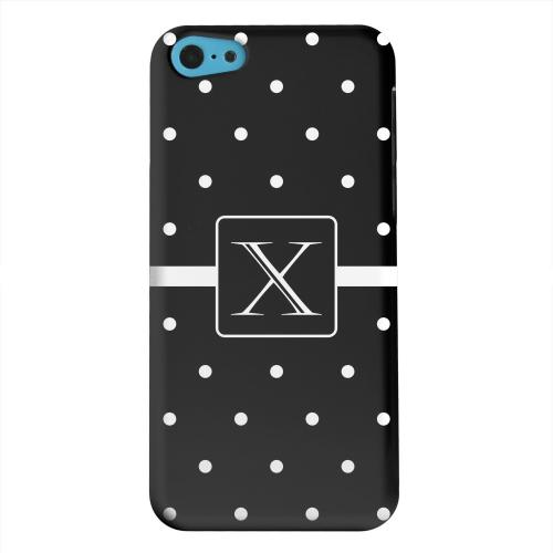 Geeks Designer Line (GDL) Apple iPhone 5C Matte Hard Back Cover - Monogram X on Classic Mini Polka Dots