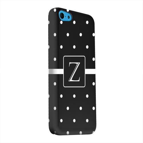 Geeks Designer Line (GDL) Apple iPhone 5C Matte Hard Back Cover - Monogram Z on Classic Mini Polka Dots