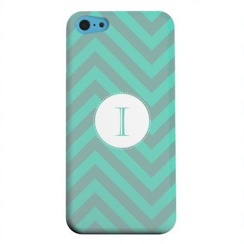 Geeks Designer Line (GDL) Apple iPhone 5C Matte Hard Back Cover - Seafoam Green Monogram I on Zig Zags
