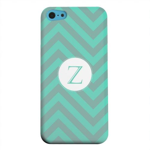 Geeks Designer Line (GDL) Apple iPhone 5C Matte Hard Back Cover - Seafoam Green Monogram Z on Zig Zags