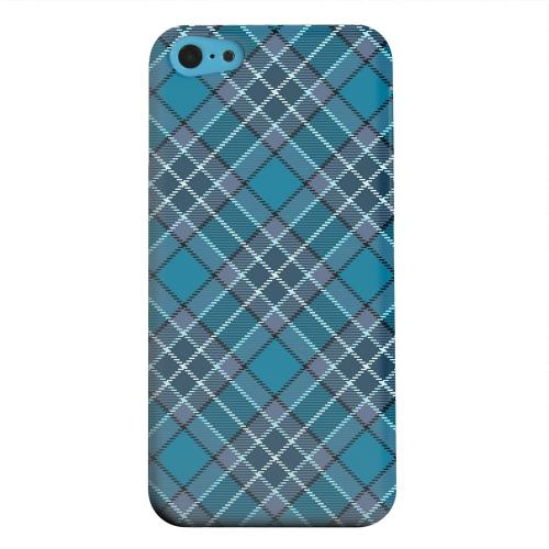 Geeks Designer Line (GDL) Apple iPhone 5C Matte Hard Back Cover - Dark Aqua/ White Plaid