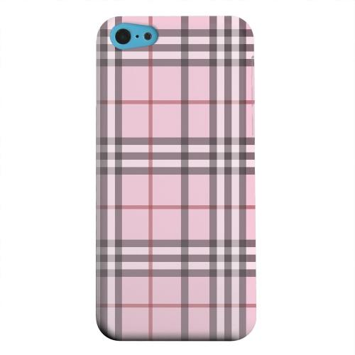 Geeks Designer Line (GDL) Apple iPhone 5C Matte Hard Back Cover - Classic Pink/ White/ Red Plaid