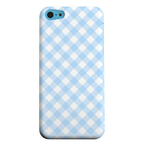 Geeks Designer Line (GDL) Apple iPhone 5C Matte Hard Back Cover - Light Blue Plaid