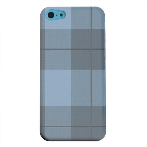 Geeks Designer Line (GDL) Apple iPhone 5C Matte Hard Back Cover - Off-Centered Zoom Blue Plaid